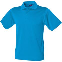 Textiel Heren Polo's korte mouwen Henbury HB475 Saffierblauw