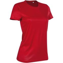Textiel Dames T-shirts korte mouwen Stedman Active Karmijnrood
