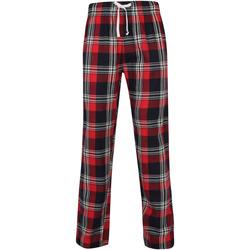 Textiel Heren Pyjama's / nachthemden Skinni Fit Tartan Rood/navy check