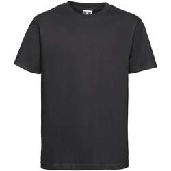 Textiel Kinderen T-shirts korte mouwen Russell 155B Zwart