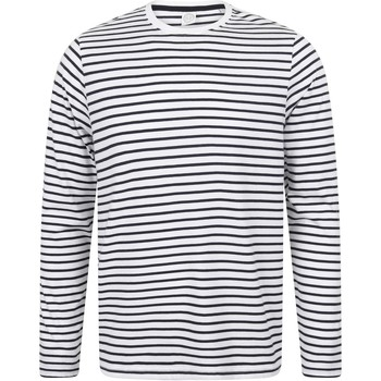 Textiel T-shirts met lange mouwen Skinni Fit Striped Witte/Oxfordse marine