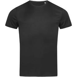 Textiel Heren T-shirts korte mouwen Stedman Active Zwart