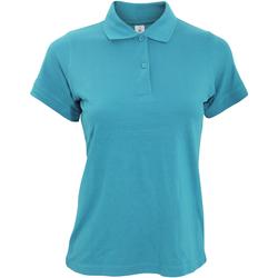 Textiel Dames Polo's korte mouwen B And C PW455 Blauw