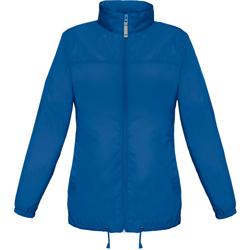 Textiel Dames Windjacken B And C Showerproof Koningsblauw