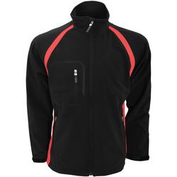 Textiel Heren Wind jackets Finden & Hales LV620 Zwart/Rood