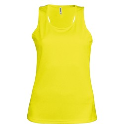 Textiel Dames Mouwloze tops Kariban Proact Proact Fluorescerend Geel