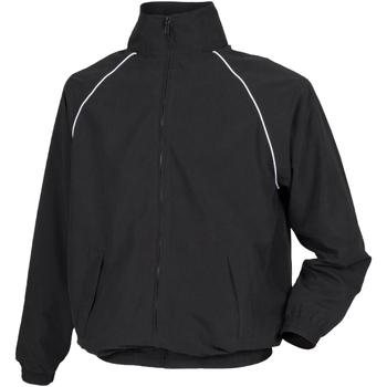 Textiel Kinderen Wind jackets Tombo Teamsport Track Zwart/witte leidingen