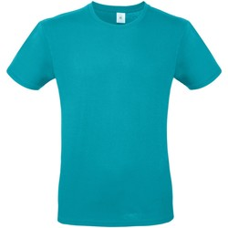 Textiel Heren T-shirts korte mouwen B And C E150 Echt Turquoise