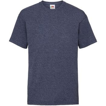 Textiel Kinderen T-shirts korte mouwen Fruit Of The Loom 61033 Vintage Heather Marine