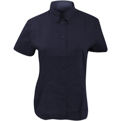 Textiel Dames Overhemden Kustom Kit Oxford Middernacht marine