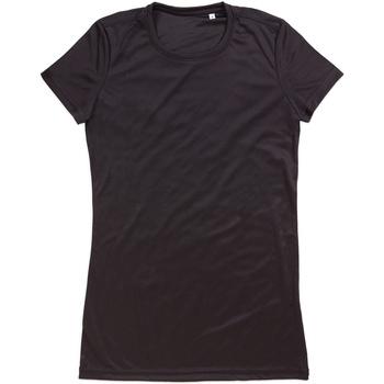 Textiel Dames T-shirts korte mouwen Stedman Active Zwart Opaal