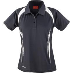 Textiel Dames Polo's korte mouwen Spiro Performance Zwart/Wit