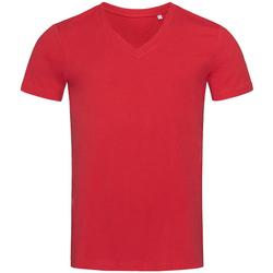 Textiel Heren T-shirts korte mouwen Stedman Stars Organic Rood
