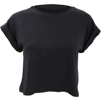 Textiel Dames T-shirts korte mouwen Mantis Crop Zwart