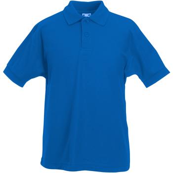 Textiel Jongens Polo's korte mouwen Fruit Of The Loom Pique Royaal Blauw
