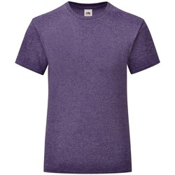 Textiel Meisjes T-shirts korte mouwen Fruit Of The Loom Iconic Heather Paars