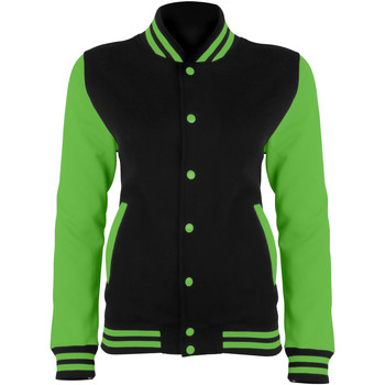 Textiel Dames Wind jackets Awdis JH044 Straalzwart/Elektrisch Groen