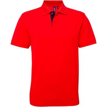 Textiel Heren Polo's korte mouwen Asquith & Fox Contrast Rood/ Navy