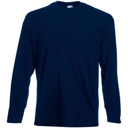 Textiel Heren T-shirts met lange mouwen Universal Textiles Casual Middernacht blauw