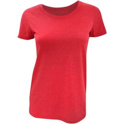 Textiel Dames T-shirts korte mouwen Bella + Canvas Triblend Rood Triblend