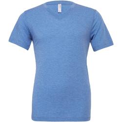 Textiel Heren T-shirts korte mouwen Bella + Canvas Canvas Blauwe Triblend