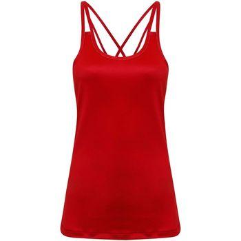 Textiel Dames Mouwloze tops Tridri TR029 Vuurrood