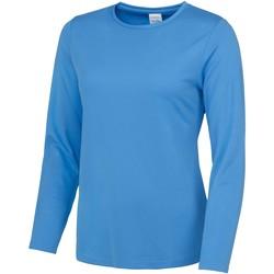 Textiel Dames T-shirts met lange mouwen Awdis Girlie Saffierblauw