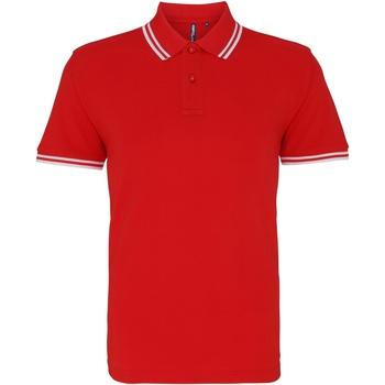 Textiel Heren Polo's korte mouwen Asquith & Fox Classics Rood/wit