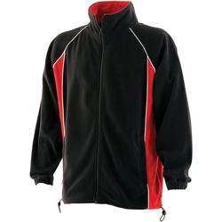 Textiel Heren Fleece Finden & Hales LV550 Zwart/Rood/Wit