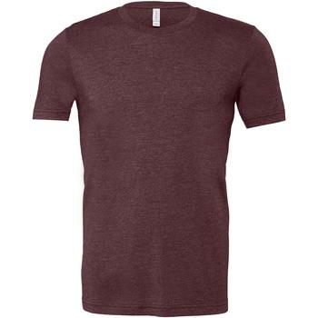 Textiel Heren T-shirts korte mouwen Bella + Canvas Jersey Hether Bordeaux