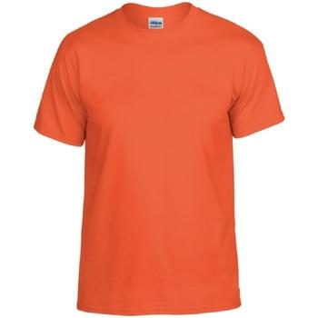 Textiel Heren T-shirts korte mouwen Gildan DryBlend Oranje