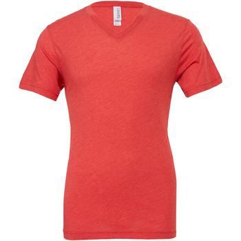 Textiel Heren T-shirts korte mouwen Bella + Canvas Canvas Lichtrood Triblend
