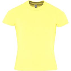Textiel Kinderen T-shirts korte mouwen American Apparel AA057 Citroen