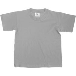 Textiel Kinderen T-shirts korte mouwen B And C Exact Sportgrijs