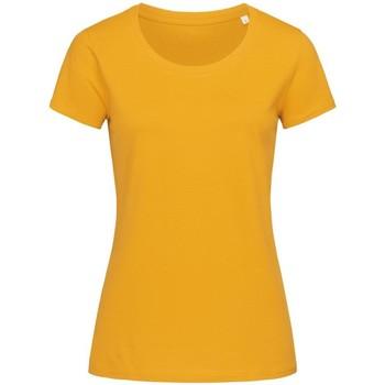 Textiel Dames T-shirts korte mouwen Stedman Stars Organic Geel