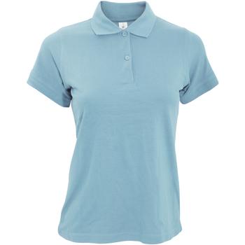 Textiel Dames Polo's korte mouwen B And C Safran Hemel Blauw