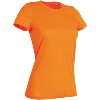 Textiel Dames T-shirts korte mouwen Stedman Active Cyber Oranje