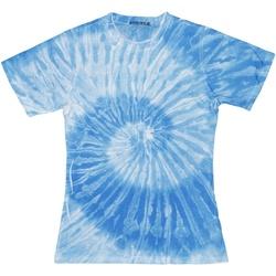 Textiel Dames T-shirts korte mouwen Colortone Tie Dye Spider Royal