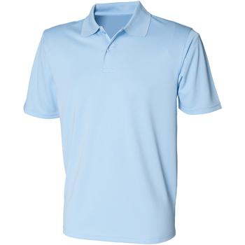 Textiel Heren Polo's korte mouwen Henbury HB475 Lichtblauw