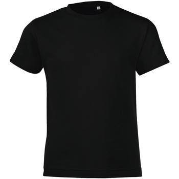 Textiel Jongens T-shirts korte mouwen Sols Regent Diep zwart