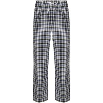 Textiel Heren Pyjama's / nachthemden Skinni Fit Tartan Wit/meervoudige controle