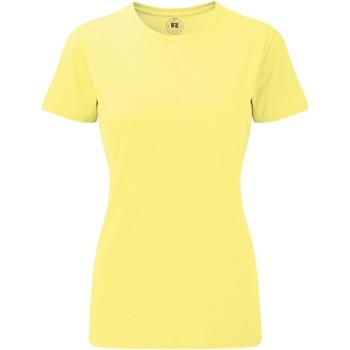 Textiel Dames T-shirts korte mouwen Russell 165F Gele mergel