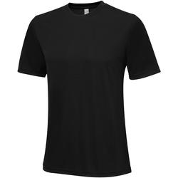 Textiel Heren T-shirts korte mouwen Awdis JC020 Jet Zwart