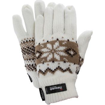Accessoires Dames Handschoenen Floso Fairisle Wit