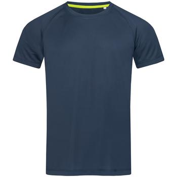 Textiel Heren T-shirts korte mouwen Stedman Active Donkerblauw