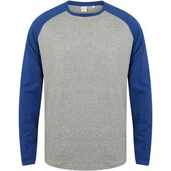 Textiel Heren T-shirts met lange mouwen Skinni Fit Baseball Heide Grijs / Koninklijk