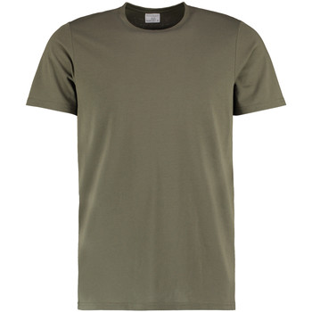 Textiel Heren T-shirts korte mouwen Kustom Kit Fashion Fit Khaki