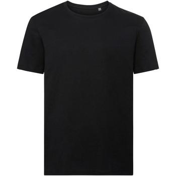 Textiel Heren T-shirts korte mouwen Russell Organic Zwart