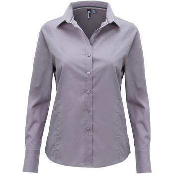 Textiel Dames Overhemden Premier Fitted Staal