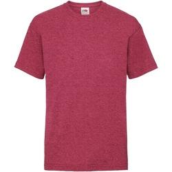 Textiel Kinderen T-shirts korte mouwen Fruit Of The Loom 61033 Vintage Heather Rood
